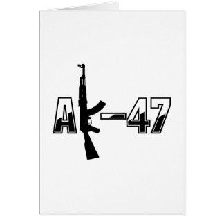 Carte Logo de fusil d'assaut d'AK-47 AKM