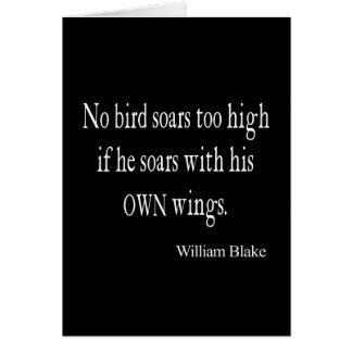 Carte L'oiseau vintage de William Blake montent pour