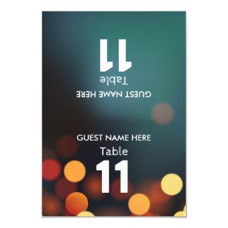 Carte L'or turquoise Bokeh allume le nombre de Tableau