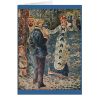Carte L'oscillation de Pierre-Auguste Renoir (1876)