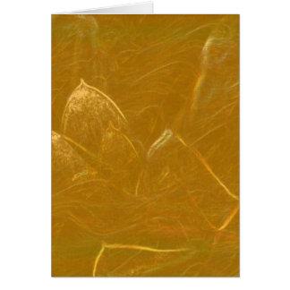 Carte Lotus d'or a gravé à l'eau-forte le motif à bas