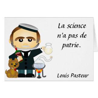 Carte Louis Pasteur. franc
