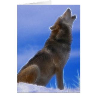 Carte Loup gris mis en danger par hurlement isolé