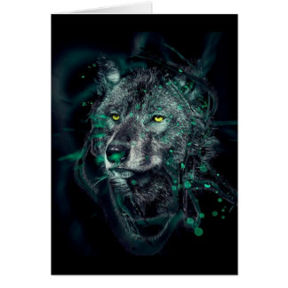 Carte Loup indien vert
