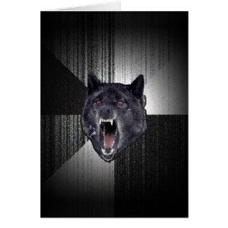 Carte Loup noir drôle de Meme Memes de loup de folie