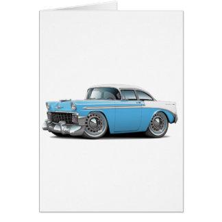 Carte Lt 1956 de Chevy Belair Bleu-Blanc Car