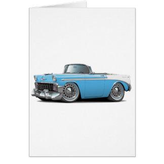 Carte Lt 1956 de Chevy Belair Bleu-Blanc Convertible