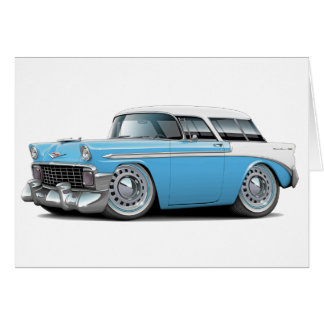 Carte Lt 1956 de nomade Bleu-Blanc Top Car