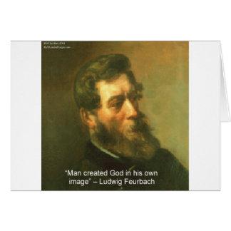 Carte Ludwig Feurbach et citation créée par homme de