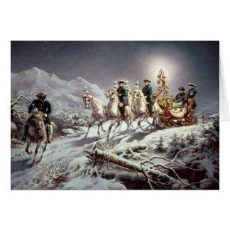 Carte Ludwig II de la Bavière Sleighing la nuit