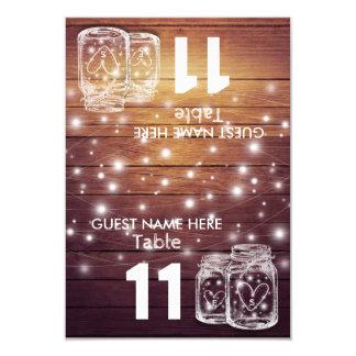 Carte Lumière de pot de maçon de nombre de Tableau