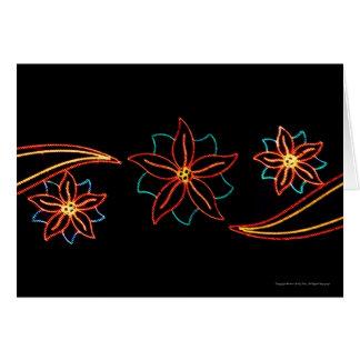 Carte Lumières de poinsettia