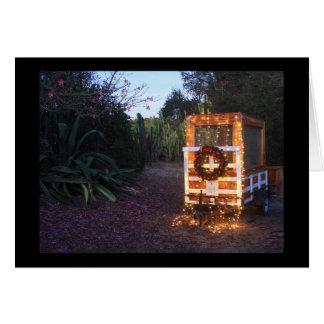 Carte Lumières de remorque de Noël