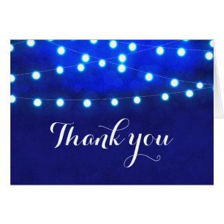 Carte Lumières rustiques bleues de ficelle de nuit