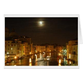 Carte Lune au-dessus de Venise