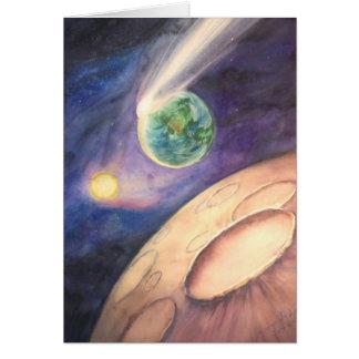 Carte Lune, comète, la terre, Sun