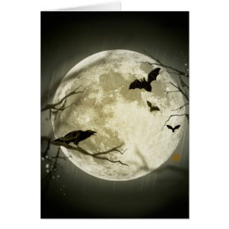 Carte Lune de Halloween - illustration de pleine lune