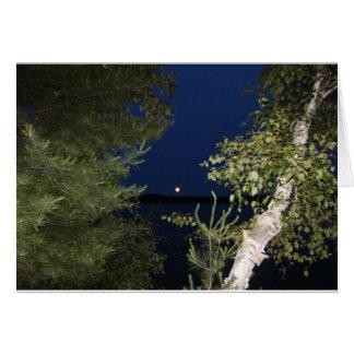 Carte Lune de juillet au-dessus de lac nancy