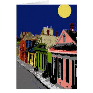 Carte Lune de la Nouvelle-Orléans de cottage créole