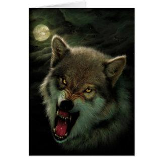 Carte Lune de loup