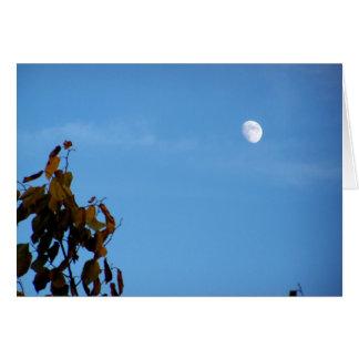 Carte Lune de récolte en octobre