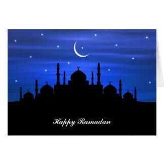 Carte Lune et mosquée de Ramadan