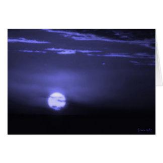 Carte Lune givrée