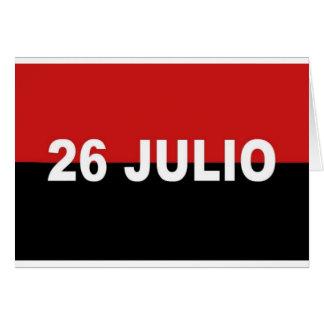 Carte M-26-7 drapeau - Bandera del Movimiento 26 De