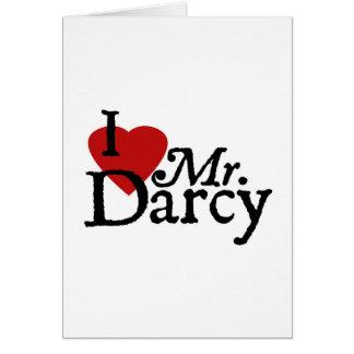 Carte M. Darcy d'AMOUR de Jane Austen I