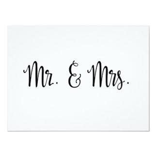 Carte M. et Mme simples mariage de la calligraphie |