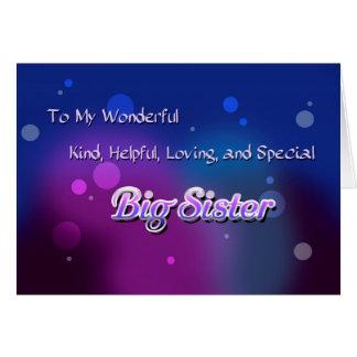 Carte Ma grande soeur merveilleuse (anniversaire)