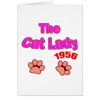 Carte Madame 1956 de chat