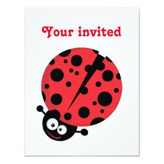 Carte Madame Bug Birthday Invite