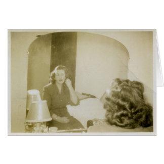 Carte Madame dans le miroir