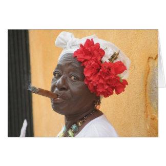 Carte Madame de cigare du Cuba