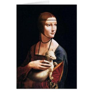 Carte Madame de Leonardo da Vinci avec une hermine