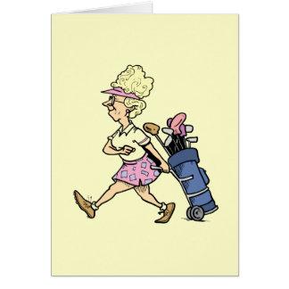 Carte Madame Golfer Tshirts et cadeaux