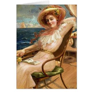 Carte Madame On une plate-forme de voilier,
