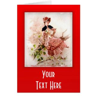 Carte Madame vintage