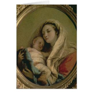 Carte Madonna avec l'enfant de sommeil, 1780s