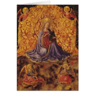 Carte Madonna de l'humilité avec l'enfant et les anges