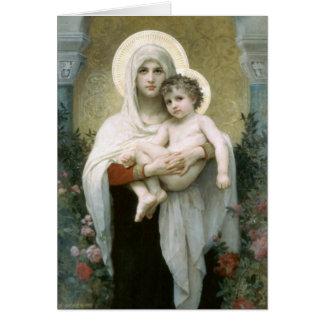 Carte Madonna des roses - William-Adolphe Bouguereau