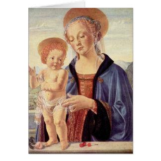 Carte Madonna et enfant