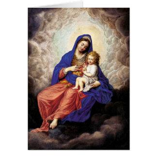 Carte Madonna et enfant dans la gloire