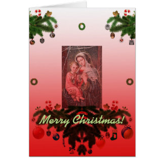 Carte Madonna et enfant [Noël]