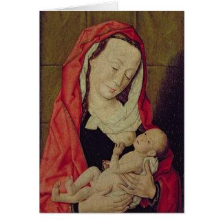 Carte Madonna et enfant (panneau)