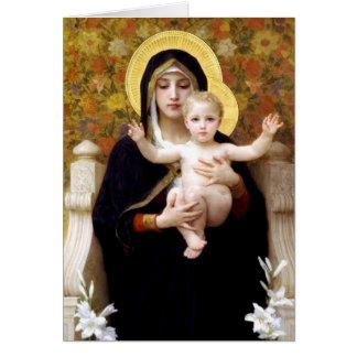 Carte Madonna et enfant par Noël religieux de Bouguereau