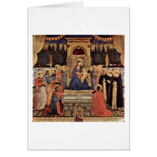 Carte Madonna et saints couronnés par ATF Angelico