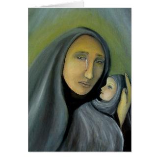 Carte Madonna religieux et Noël d'enfant religieux