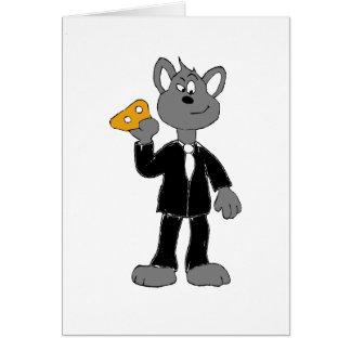 Carte Magicien magique de souris de bagarre